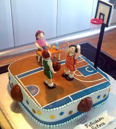 Tarta cancha baloncesto