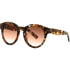 Kenzo Patterned Acetate Sunglasses (€79) ❤ liked on Polyvore featuring accessories, eyewear, sunglasses, orange, round frame sunglasses, round sunglasses, round acetate sunglasses, orange glasses and kenzo eyewear