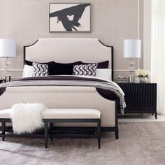 Legacy Classic Furniture Symphony Complete Upholstered Panel Bed    5640 4205K Panel Bed, Contemporary