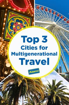 Traveling with your kids and their grandparents this vacation? Alamo has you covered with this list of top cities for multi-generation travel. See why Orlando, Florida; Las Vegas, Nevada; and Chicago, Illinois are our favorite family-friendly destinations.