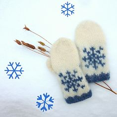Pattern in English and Norwegian/Norsk :) Mittens Pattern, Drops Design, Ravelry, Snowflakes, Blog, English, Threading, Snow Flakes, Blogging