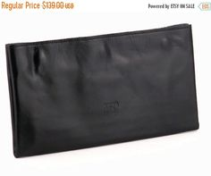 Black Leather Wallet / Men Leather Wallet / Women Purse / Unisex Wallet / Cards Slots Wallet / Coins Wallet / Compartments Wallet - Efika