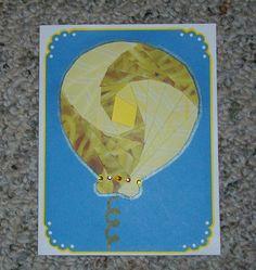 Balloon Iris-Folded Card by FoldsWithLoveByHolly on Etsy, $4.00