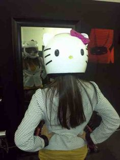 My Hello kitty motocycle helmet my husband made for me. Obsessed!!!!