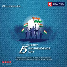 Cherish this freedom as it is a result of the struggles endured by our ancestors Happy Independence Day. Happy Independence Day India, Independence Day Poster, Ads Creative, Creative Posters, National Flag India, Indian Flag Wallpaper, India Poster, Republic Day India, Happy Janmashtami