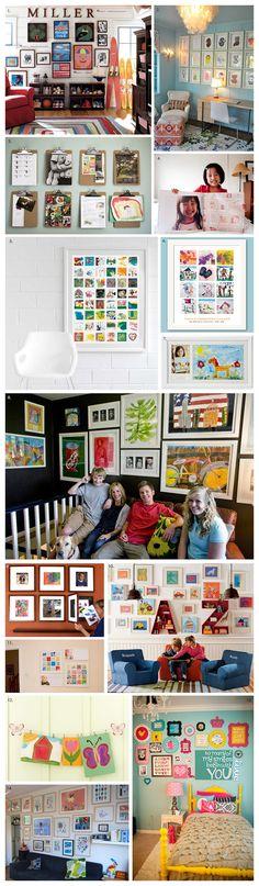 Kids Art Displays | Akemi Photography    #MemoriesOnDisplay #KidsArtWork #PhotographyDisplays