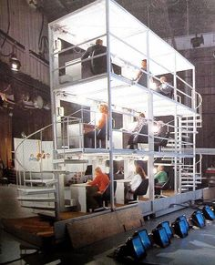 """I'll take Paul Lynde for the win!""  The backside of the original HOLLYWOOD SQUARES set located at NBC Studios 📺"