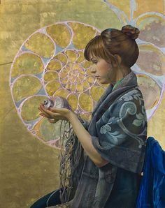 Fred Wessel, Contemplating Fibonacci's Spiral love this, love all the work of an old friend- Fred Wessel :)