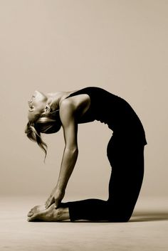 Ustrasana (Camel Pose)  For this pose you can pad your knees and shins with a thickly folded blanket.