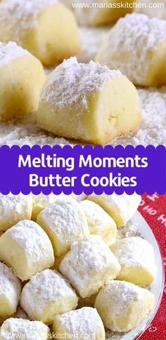 Christmas Melting Moments Butter Cookies - Nothing says Christmas like delicious buttery cookies! So I'm going to share with you today our favorite tried, tested Melting Moments buttery cookies recipe! Easy Cookie Recipes, Cookie Desserts, Sweet Recipes, Baking Recipes, Best Butter Cookie Recipe, Recipes With Lemon, Recipes With Cream Cheese, Cookie Cakes, Cake Batter