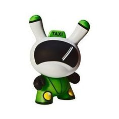 Dunny Kidrobot Azteca 2 Anais E3 Taxi Cab Drive Art Toy Vinyl Figure. I have this one too.