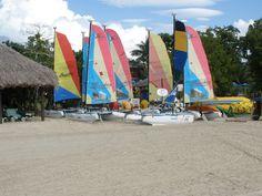 Hobie cats at Beaches Negril, Jamaica