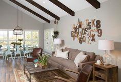 sillones estilo rustico mesa madera salon rustico ideas