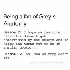 Grey's anatomy fans life