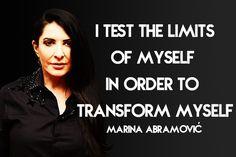 Art Week Quotable: Marina Abramović On Transformation - The Frisky