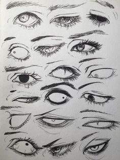 Drawings, Manga, Anime, Eyes, 18 designs to enhance your drawing - art - Drawings Manga Anime Eyes 18 designs to enhance your drawing - Drawing Reference Poses, Drawing Poses, Drawing Tips, Drawing Sketches, Art Drawings, Drawing Ideas, Eye Sketch, Hand Reference, Drawings Of Eyes