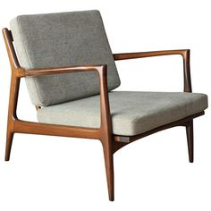 Danish Modern Selig Lounge Chair | From a unique collection of antique and modern lounge chairs at https://www.1stdibs.com/furniture/seating/lounge-chairs/