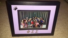Phi sig picture frame