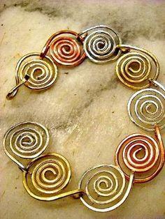 Linked Spiral Bracelet - Jewelry Making Daily by carole