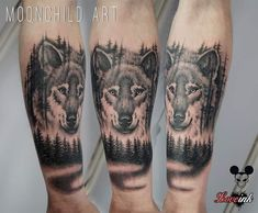 Photo by (curatormirko) on Instagram | #wolf #wolftattoo #forest #foresttattoo #tattooartists #wilk #tatuaz #blackforest #realisictattoo #realism #animaltattoo #darktattoo #mentattoo #opole #tattoo #polandtattoos #armtattoo #tattoosession #moonchildart #blackdeathtattooopole #tattoostudio #tattoos #ink #tattooartist #inked #tattooidea #tattooinspo C Tattoo, Dark Tattoo, Mens Tattoos, Tattoos For Guys, Forest Tattoos, Pine Tree Tattoo, Tattoo Studio, Tattoo Artists, Wolf