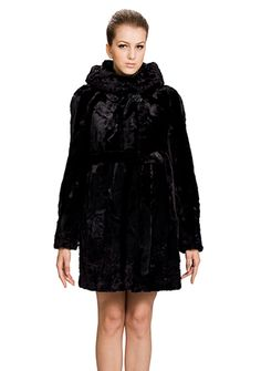Una/faux black mink fur with black astrakhan/middle fur coat from http://www.messcabuy.com/