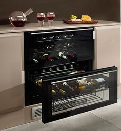 Fancy - Cave 55 Wine Chiller Drawers by Norcool Built In Wine Cooler, Basement Inspiration, Basement Ideas, Wine Chiller, Wine Decor, Kitchen Dining, Home Goods, Interior Decorating, Interior Design