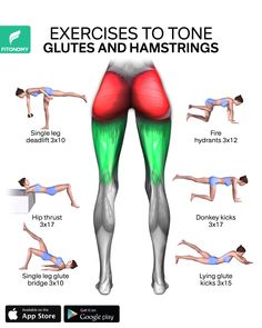 Sculpt your butt and hamstrings with these six exercises without equipment, which are designed to [& Fitness Workouts, Gym Workout Videos, Yoga Fitness, Fitness Workout For Women, Butt Workout, Physical Fitness, Boxing Workout, Ab Workouts, Gluteus Maximus Trainieren