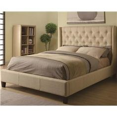 Upholstered Beds Queen Tan Upholstered Bed with Button Tufting by Coaster - Underground Furniture - Upholstered Bed San Diego, Pacific Beach, Mission Beach, La Jolla