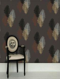 Corallo Charcoal with Copper, Silver, Gold and Black från Piero Fornasetti