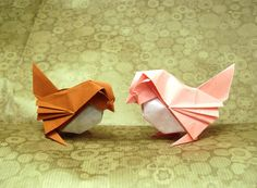 Origami Sparrows by Orestigami on DeviantArt