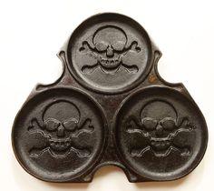 Seasoned skull pancake skillet #Kickstarter