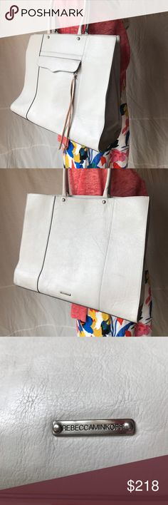 NWOT Rebecca Minkoff large tote.DUST BAG included Never used Rebecca Minkoff tote. Grey. Lots of room! Inside and outside zip pockets. Gorgeous classic bag Rebecca Minkoff Bags Totes