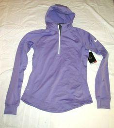 896f4e132bd6ff Nike Womens Dri-FIT Element Thermal 1 2 Zip Running Hoodie M Light Violet   Nike  ActivewearLongSleeve