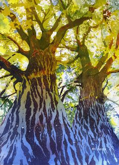 Kris Parins, watercolors -
