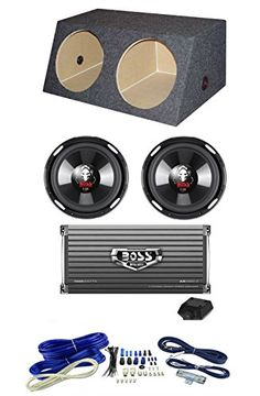 2 Boss P106DVC 10 4200W Car Subs  Dual Angle Sub Box1600W 2Ch Amp  Amp Kit * Read more at the affiliate link Amazon.com on image.