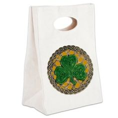 Shamrock And Celtic Knots Canvas Lunch Tote > Lunch Bags > Atteestude T-Shirts And Gifts  #school supplies