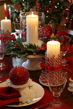 Can't wait for christmas!!  Love the candycanes on the candles.