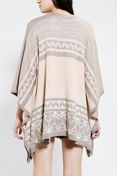 Poncho Sweater . Gentle Fawn