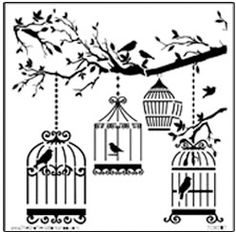 The Crafters Workshop Mini Birds of a Feather Stencil Template Feather Stencil, Feather Template, Bird Stencil, Leaf Template, Mask Template, Damask Stencil, Stencil Patterns, Stencil Designs, Embroidery Patterns