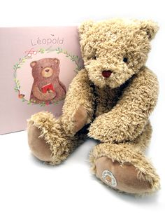 Made in France and deliciously soft this beautiful bear is a stunning Christening or Birthday Gift. Baby safe and made to European safety standards, Leopold wil Baby Safe, Le Moulin, Baby Essentials, Christening, Birthday Gifts, Teddy Bear, Toys, Animals, Birthday Presents