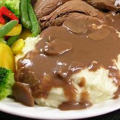Chef John's Mushroom Gravy - Mushroom sauce can be done with any type of stock, but beef stock is used here because it's being served with beef.