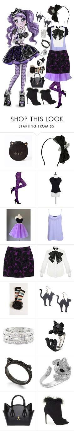 """""""Kitty Cheshire"""" by onceharrypotterdisneyfan ❤ liked on Polyvore featuring Emporio Armani, Pilot, Trina Turk, Elisabetta Franchi, Free People, Bubbly Bows, Sole Society, Kate Spade, Effy Jewelry and Miss Selfridge"""