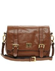 Warehouse Turnlock Leather Satchel. Want this reeeeal bad!