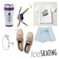 """Ice skate"" by miaaking on Polyvore featuring Chicnova Fashion and Keds"