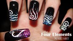 The Elements nail art - my entry to SnowWhiteIsBack nail art contest