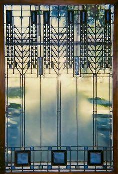 Frank Lloyd Wright Stained Glass Window by RadinaGlassStudio, $1.00