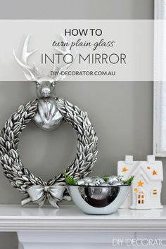 DIY - Turn Glass into Mirror with Mirror finish spray paint. Full step by step tutorial - Diy for Home Decor Diy Craft Projects, Diy And Crafts, Craft Ideas, House Projects, Project Ideas, Decorating Ideas, Mirror Effect Spray Paint, Marker Crafts, Christmas Love