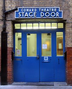 Noel Coward Theatre stage door, St Martin's Lane, London by evissa, via Flickr