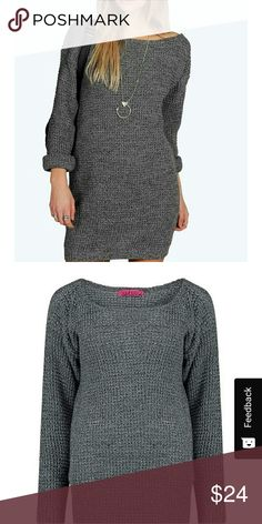 Boohoo NWT Sweater dress Boohoo size on tag is small/medium but listed at medium. Brand new with tags. Ask for measurements if needed. Product photos are included. Boohoo Dresses Long Sleeve
