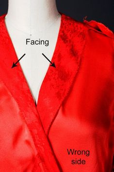 Claire Shaeffer shares a couture technique for stabilizing the edges of surplice and V necklines.